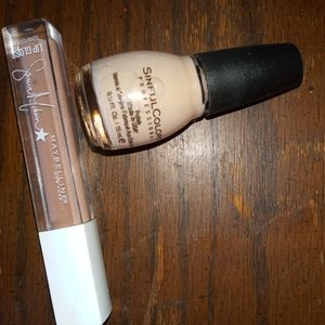 Maybelline & Sinful Colors Nude Lip+Nail Duo New